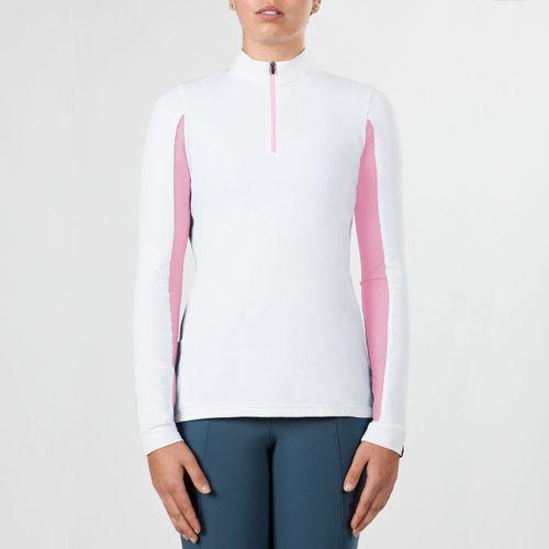 Irideon Women's CoolDown IceFil Long Sleeve Jersey - White/Pink Sunrise