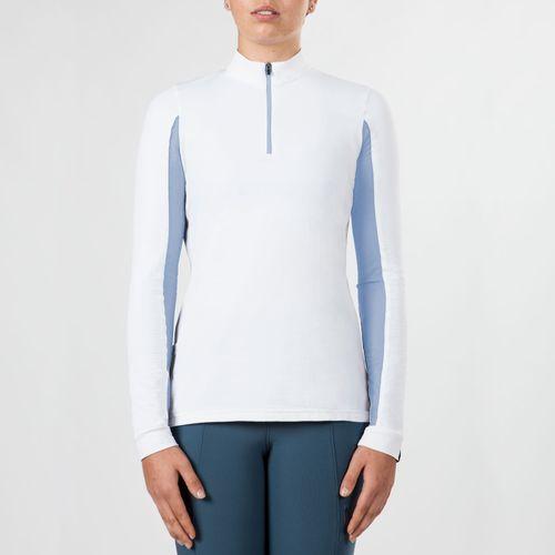 Irideon Women's CoolDown IceFil Long Sleeve Jersey - White/Cornflower