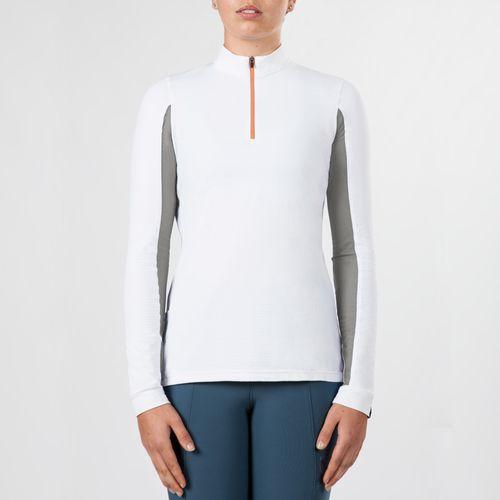 Irideon Women's CoolDown IceFil Long Sleeve Jersey - White/Dove Grey