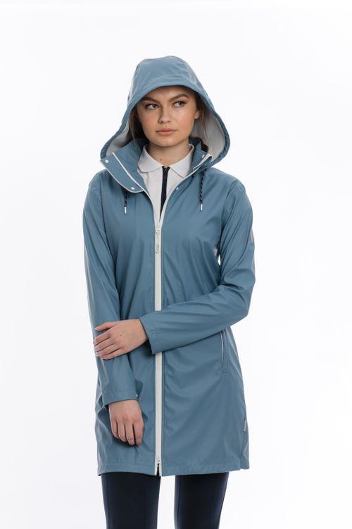 Horseware Women's Linny Long Rain Jacket - Blue Heaven