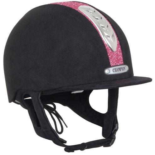 Champion X-Air Dazzle Plus Helmet - Black/Pink Sparkle