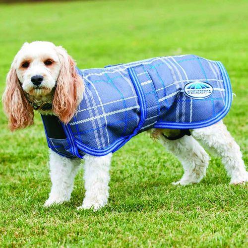 Weatherbeeta Comfitec Parka 1200D Deluxe Dog Coat - Grey Plaid