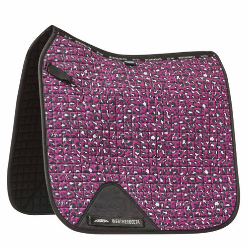 Weatherbeeta Prime Leopard Dressage Saddle Pad - Pink Print