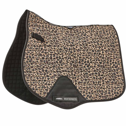Weatherbeeta Prime Leopard All Purpose Saddle Pad - Brown Print
