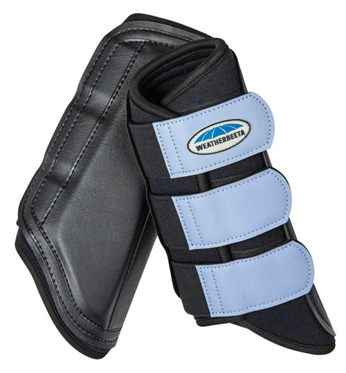 Weatherbeeta Single Lock Brushing Boots - Black/Denim