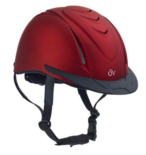 Ovation Metallic Schooler Helmet - Red