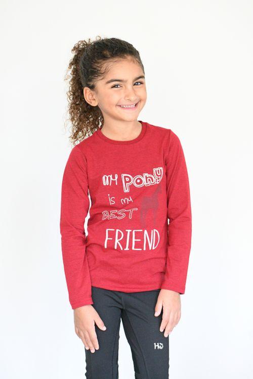 Horseware Kids' Long Sleeve Top - Red
