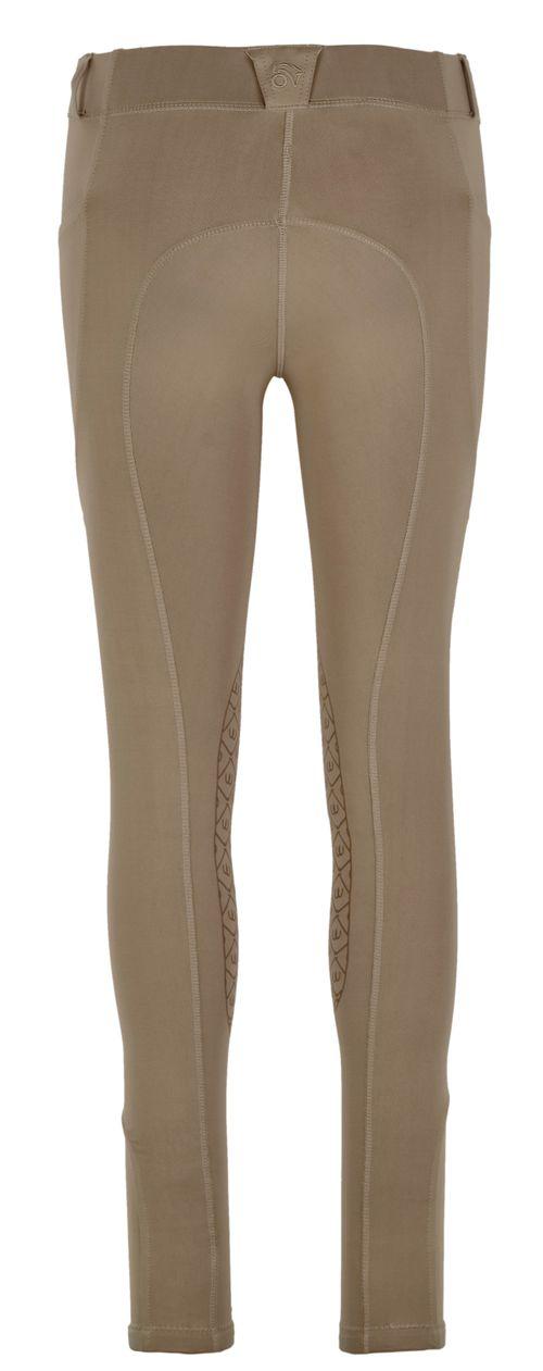 Ovation Women's AeroWick Knee Patch Tights - Neutral Beige