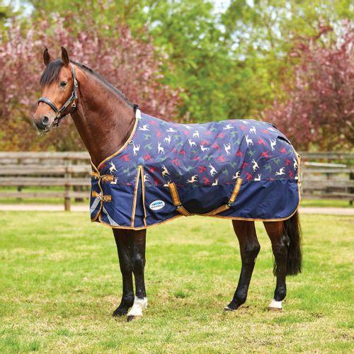 OPEN BOX: Weatherbeeta Comfitec Plus Dynamic Standard Neck Medium Blanket - 51 - Stag Print