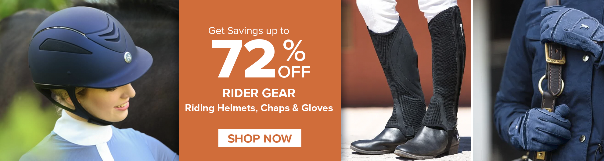 Helmets and Chaps on Sale