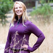 Romfh Women's Aachen Mock Zip Long Sleeve Shirt - Purple Mountain
