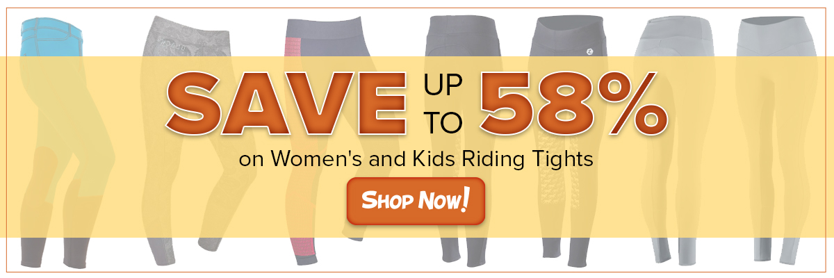 Save up to 58% on Women's and Kids' Riding Tights
