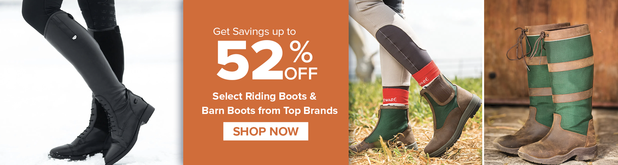 Riding Boots & Barn Boots on Sale