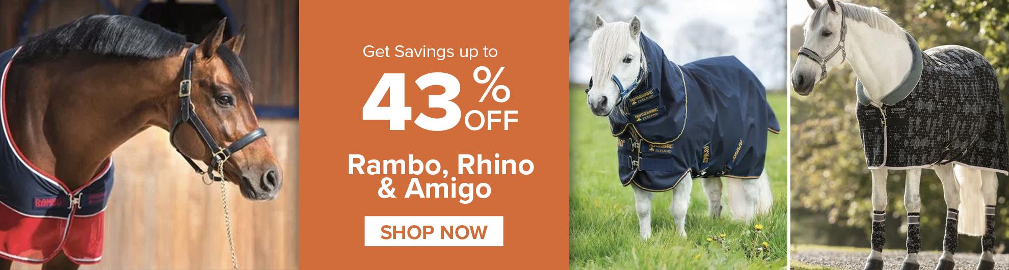 Rambo, Rhino, Amigo on Sale